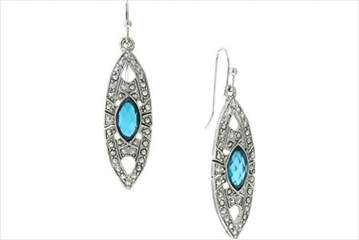 art deco marcasite drop earrings