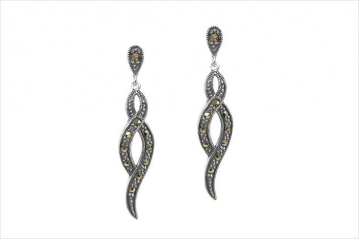 marcasite dangle earrings