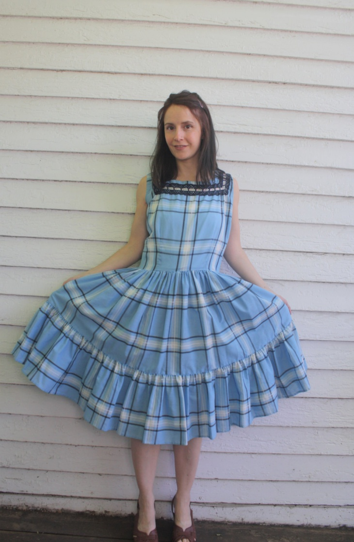 Country Plaid Dress Idea