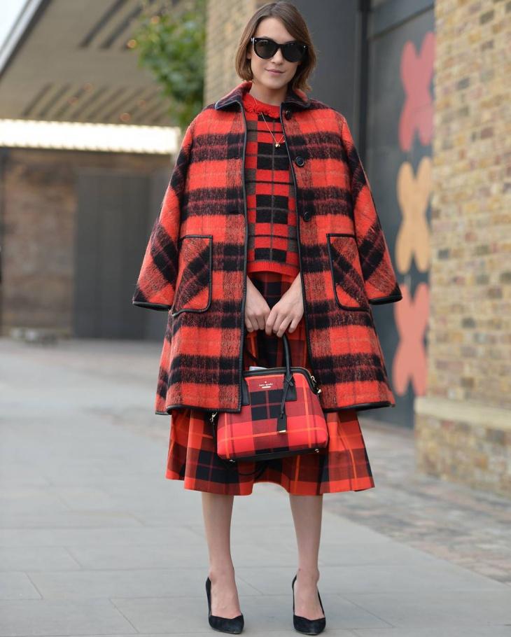 classy plaid coat design