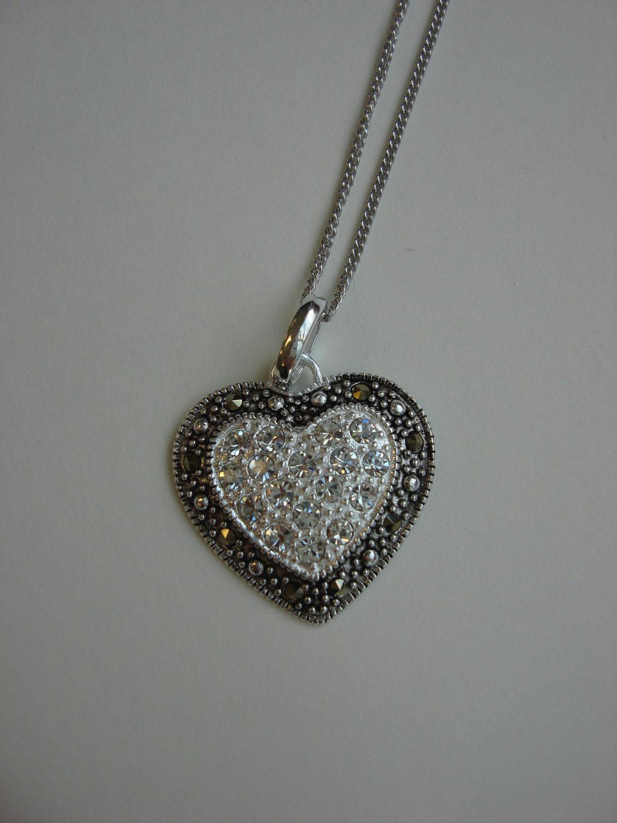 marcasite heart pendant design