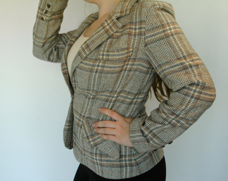 Plaid Sport Coat Blazer