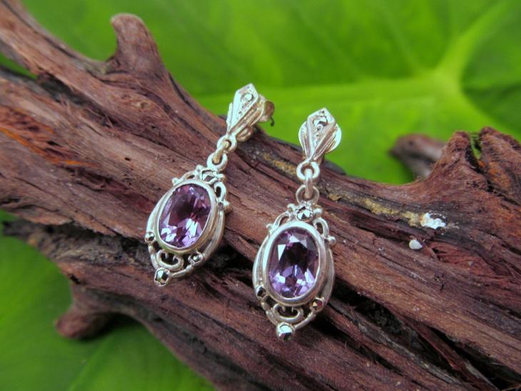 retro style marcasite earrings