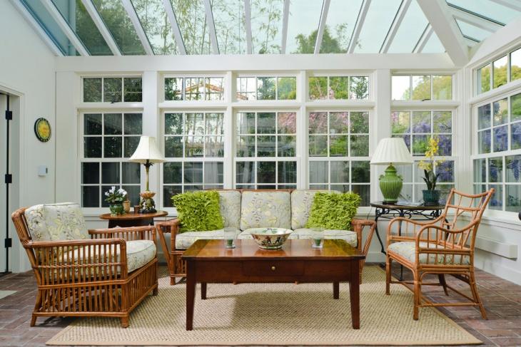 Sunroom Glass Ceiling
