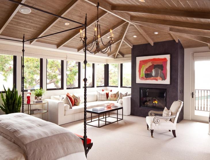 Master Sunroom Wood Ceiling Idea