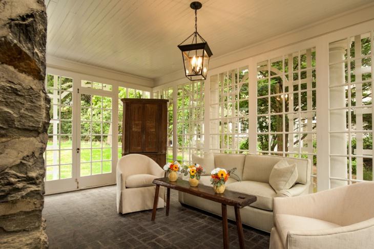 Sunroom Ceiling Chandelier Idea