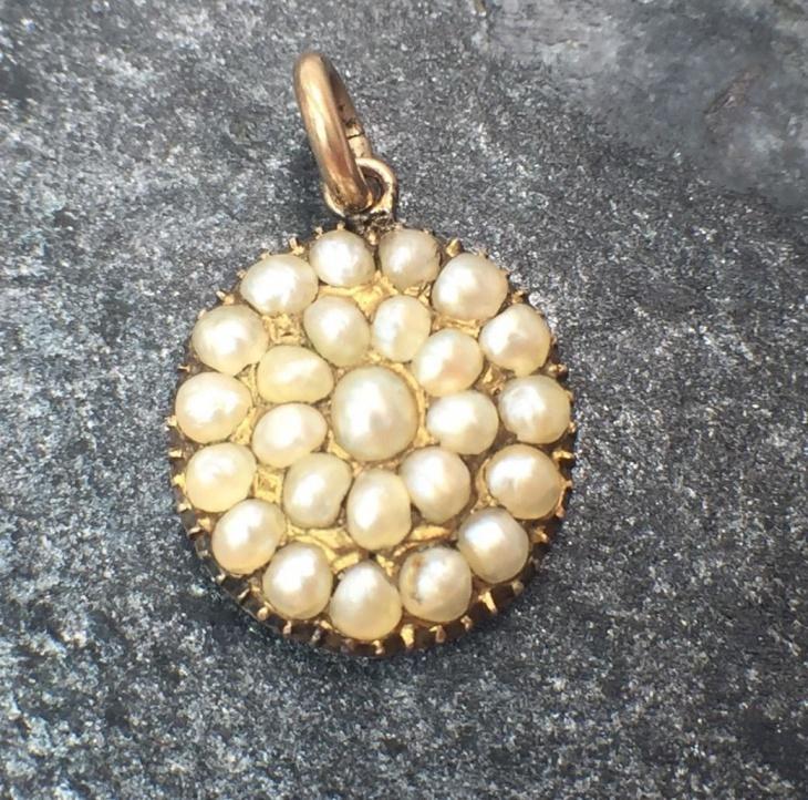 Victorian Pearl Pendant