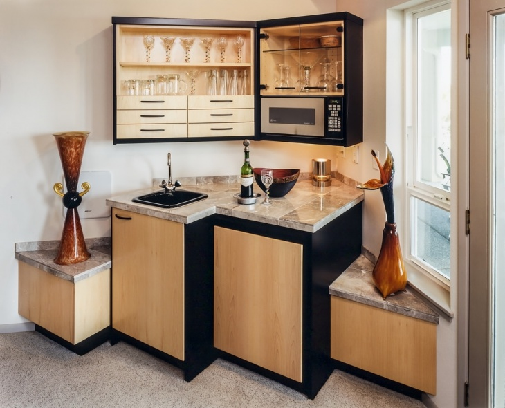 Elegant Modern Small Home Bar Design