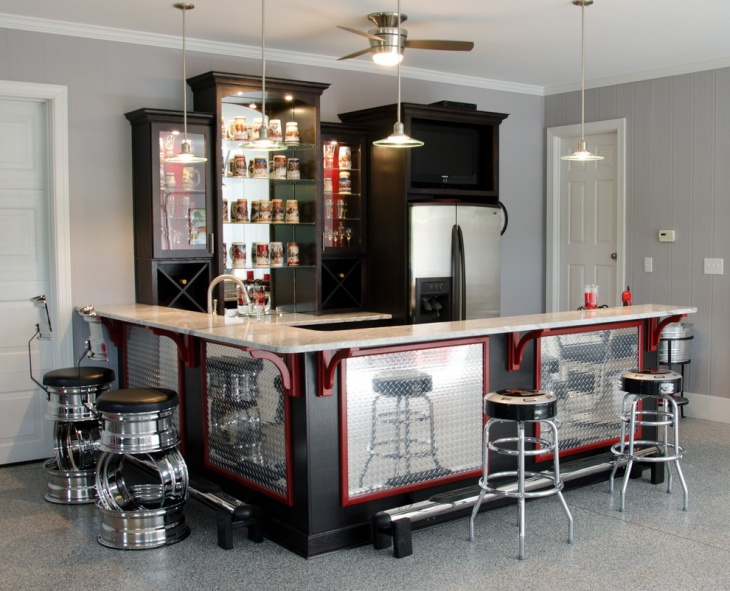 diy small home bar idea