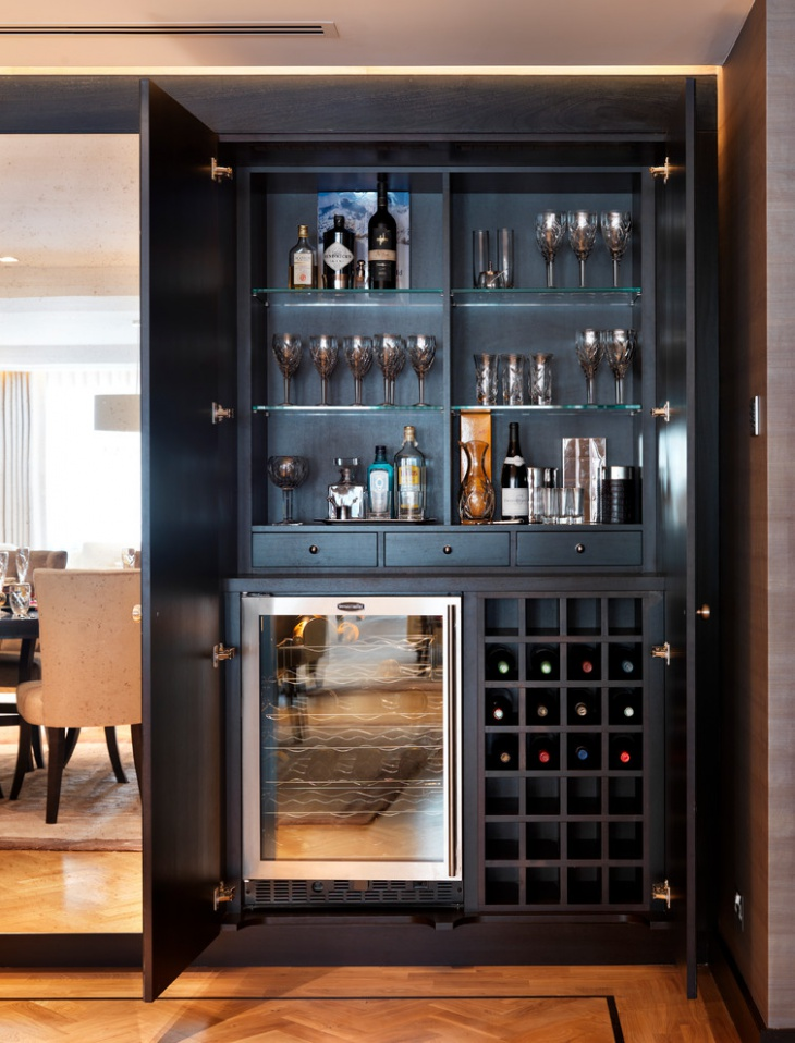 18 small home bar designs ideas design trends for How to build a mini bar cabinet