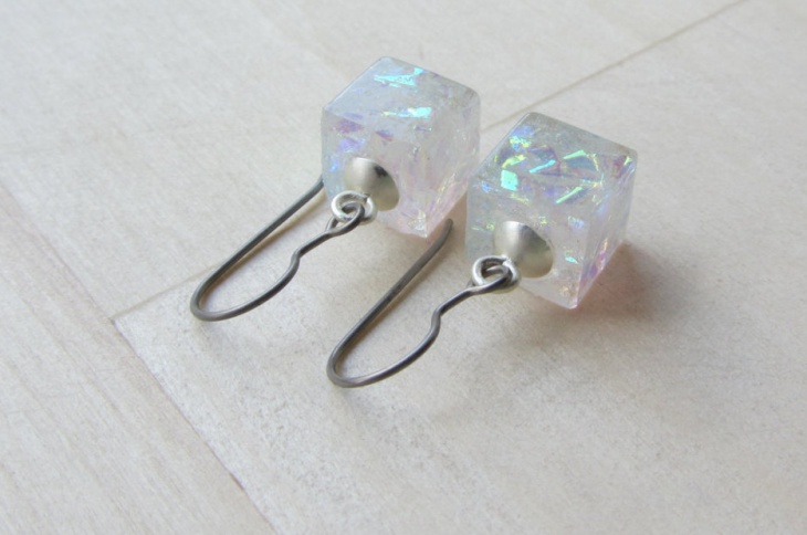 ice cube earrings