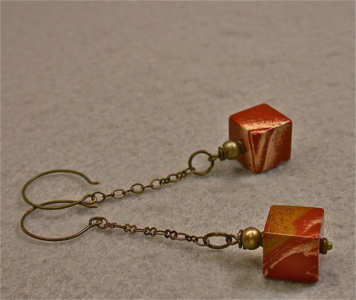 dangle cube earrings