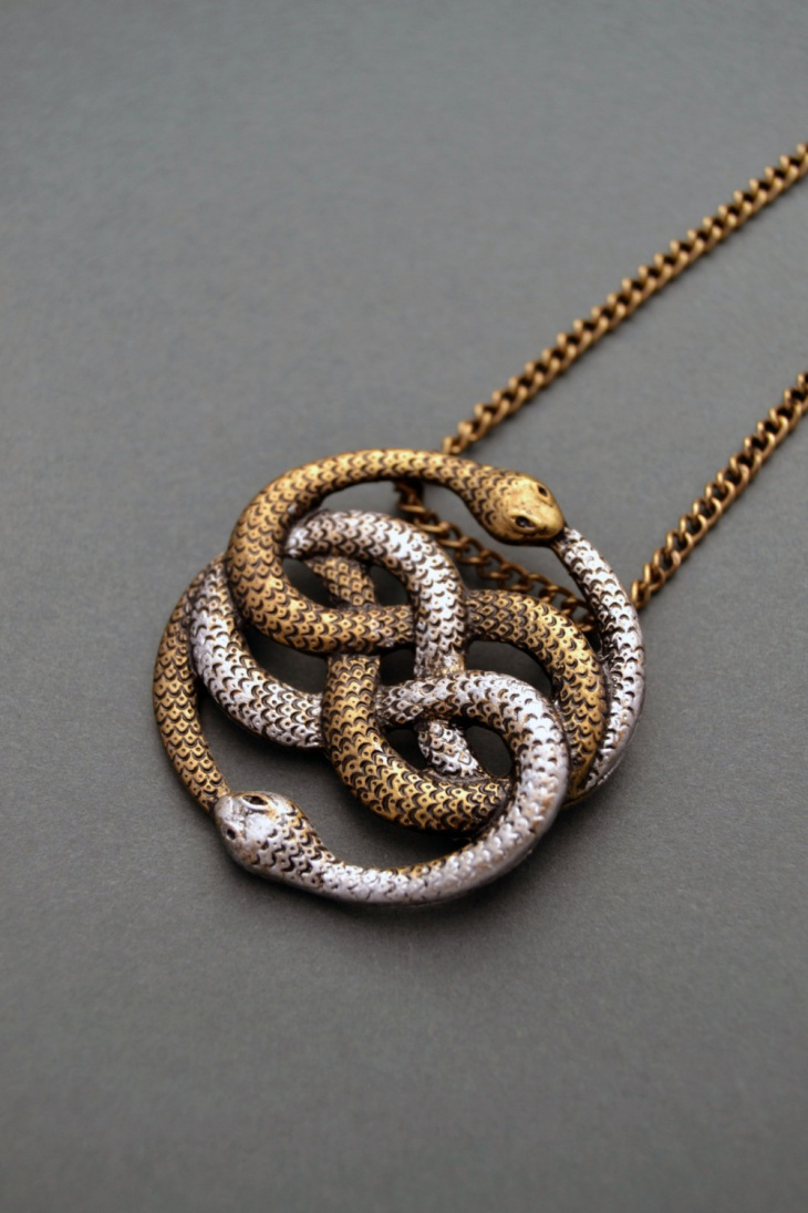 infinite snake pendant necklace