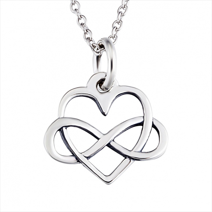 infinite knot pendant necklace