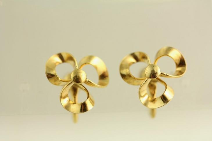 Vintage Infinite Gold Earrings