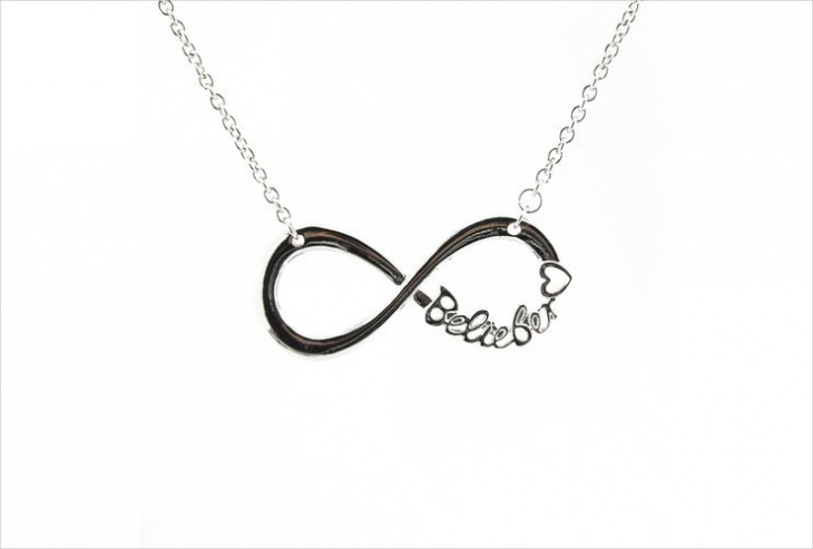 infinite name necklace design
