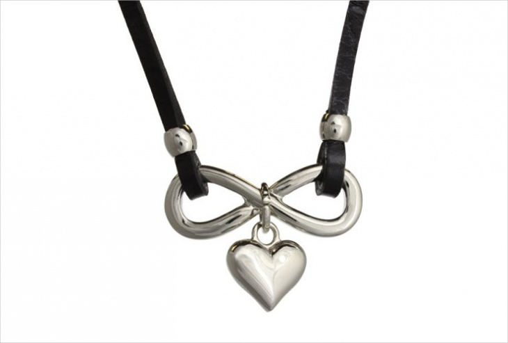 stainless steel infinite necklace