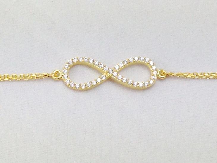 Gold Plated Infinite Bracelet