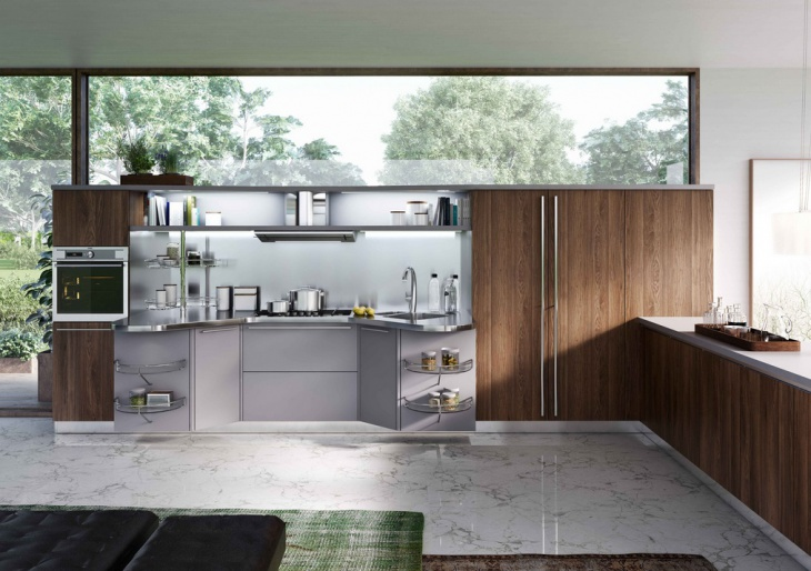 Modern One Wall Kitchen