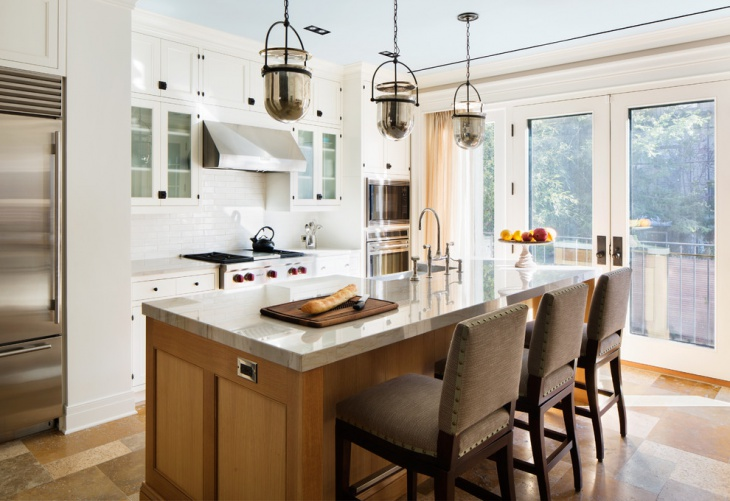 One Wall Kitchen Pendant Light Idea