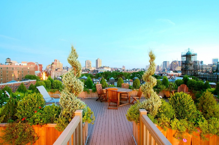Urban Rooftop Terrace Idea