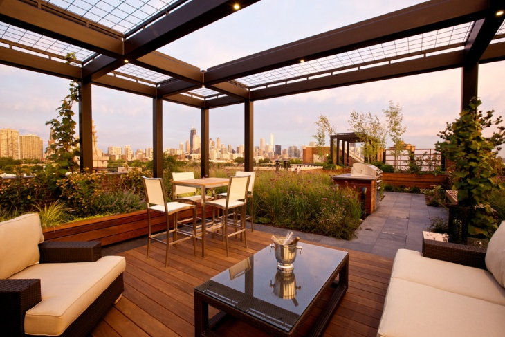 Covered Rooftop Terrace Design
