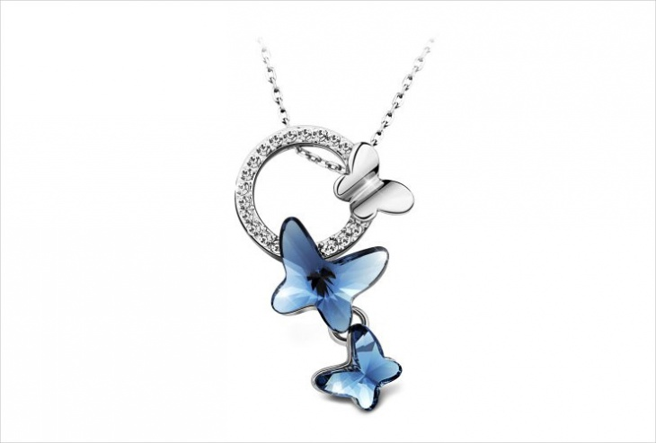 Unique Butterfly Pendant Necklace