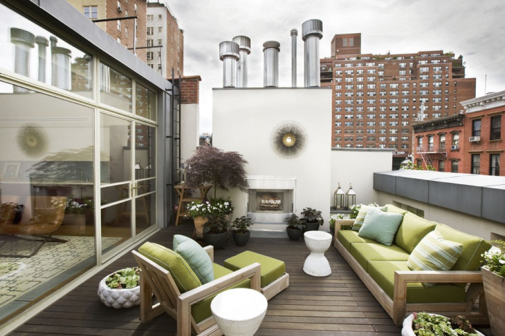Furnished Rooftop Terrace Idea