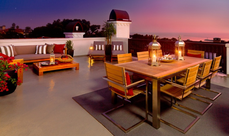 Modern Patio Rooftop Terrace