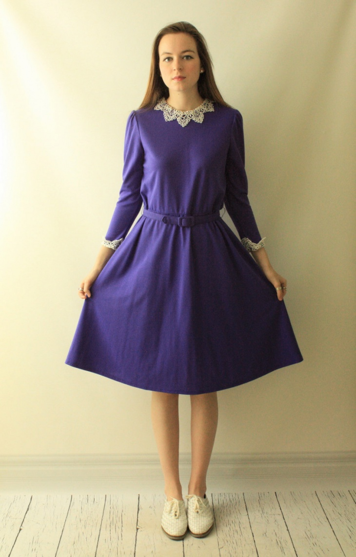 Vintage Lace Belted Dress
