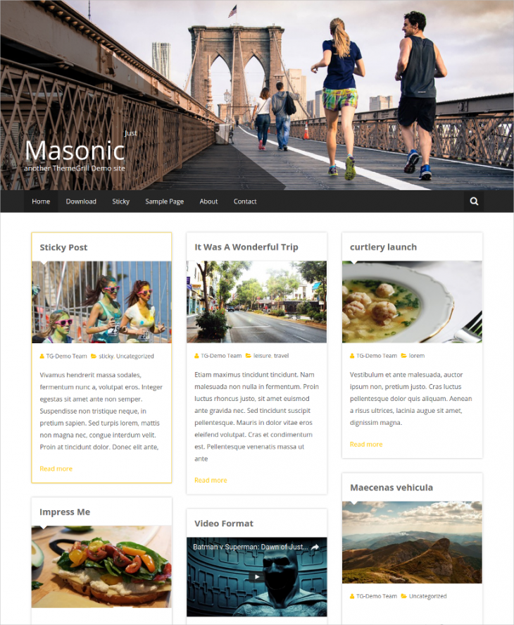 blogging pinterest style wordpress theme