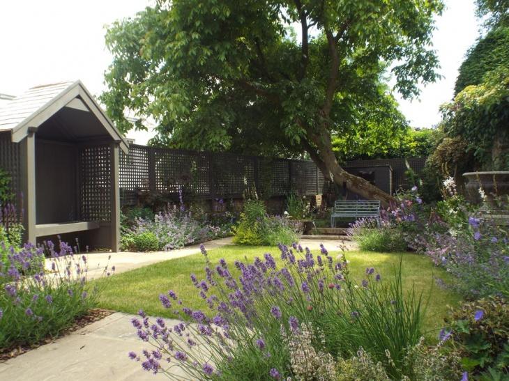 17 lavender garden designs ideas design trends for Georgian townhouse garden design