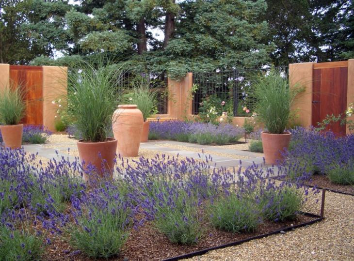 Lavender Garden Decorative Idea