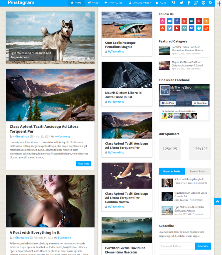 multi purpose pinterest wordpress theme