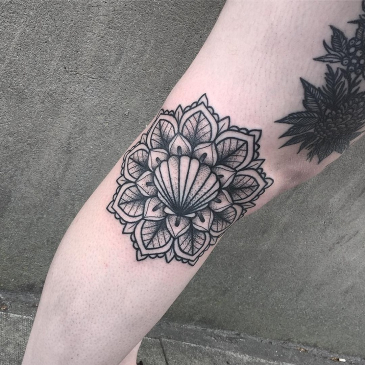 21 Trendy Mandala Tattoo Ideas For Women: 21+ Shell Tattoo Designs, Ideas