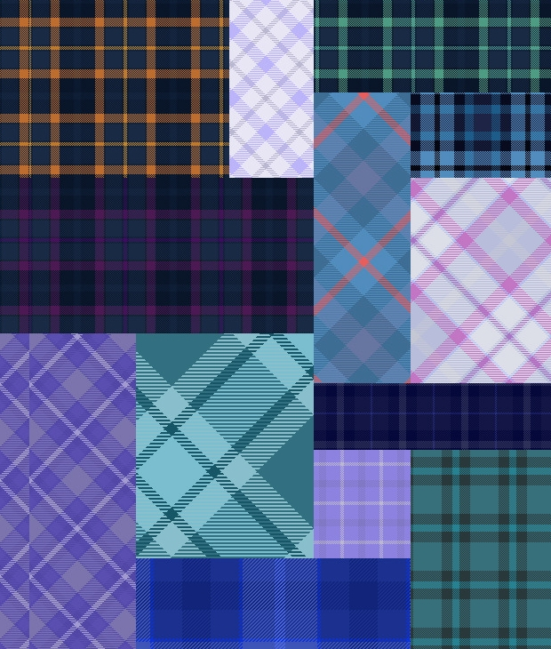 Blue Tartan Patterns