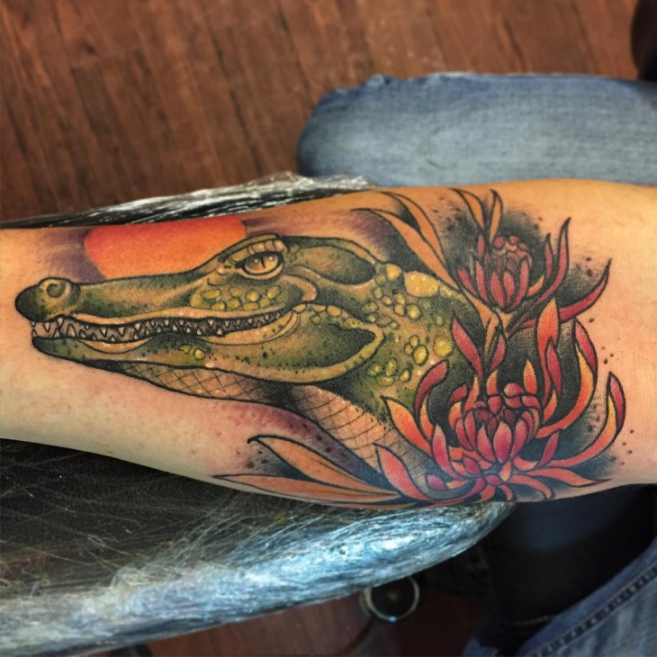 3d alligator tattoo ideas