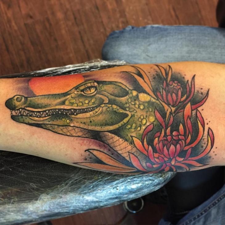 3d Alligator Tattoo Ideas