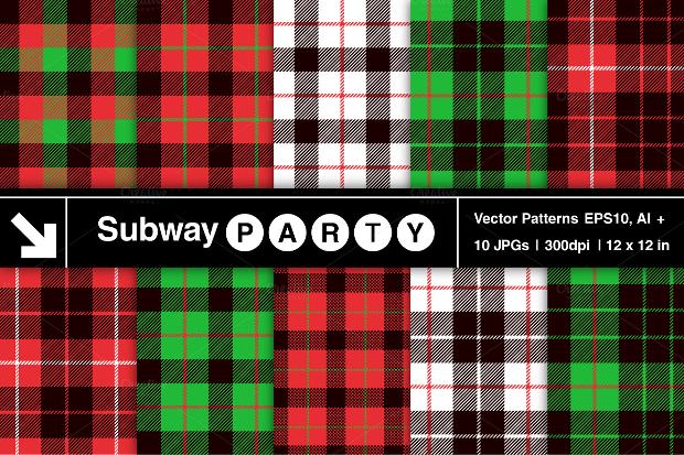 Christmas Tartan Pattern
