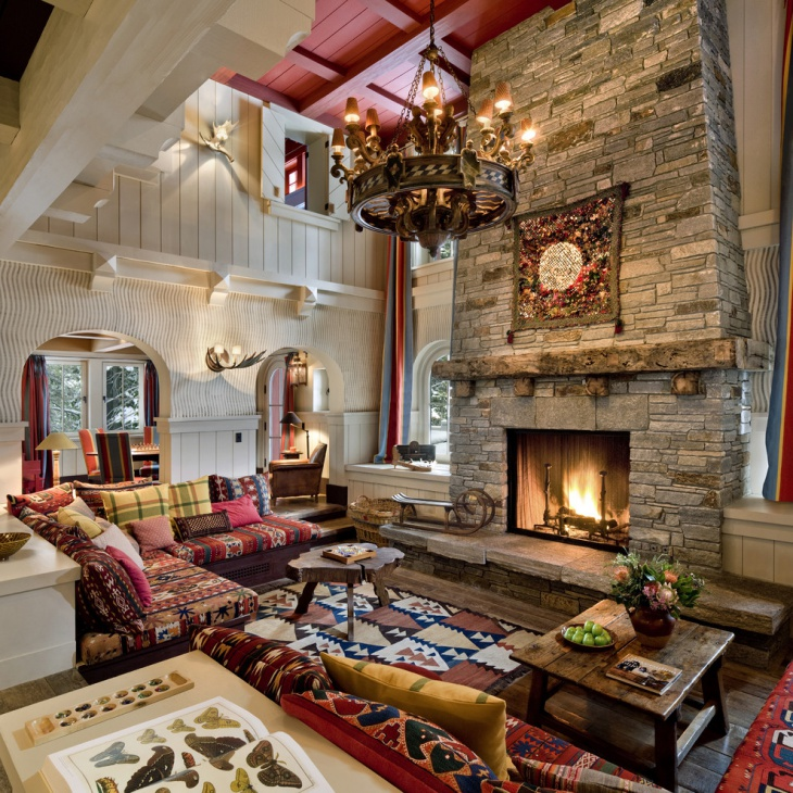17+ Chalet Living Room Designs, Ideas