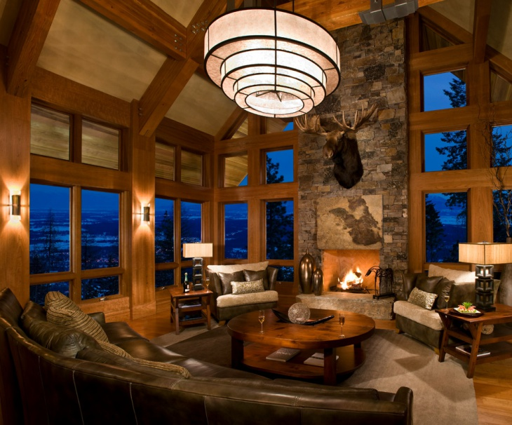 Rustic Chalet Living Room