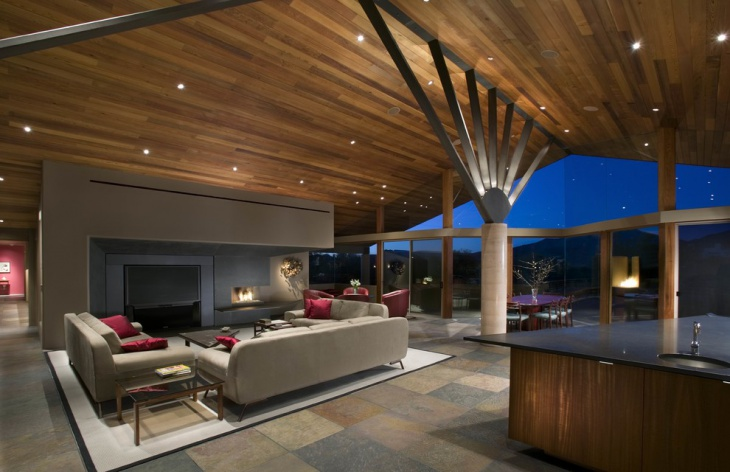 Large Chalet Living Room Design