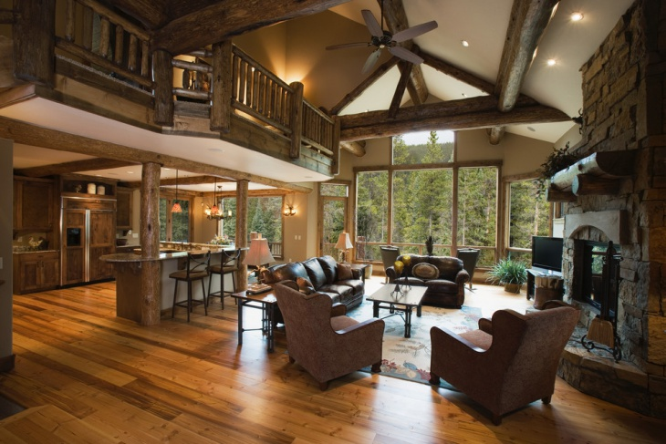 Creek Chalet Living Room Idea