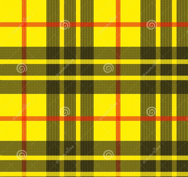 Yellow Tartan Pattern Design