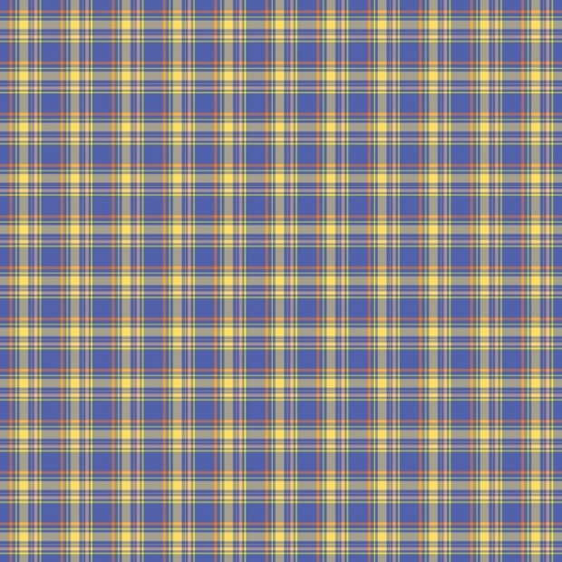 Blue Check Tartan Pattern