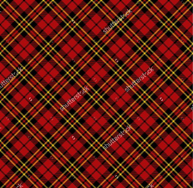 Criss Cross Tartan Pattern