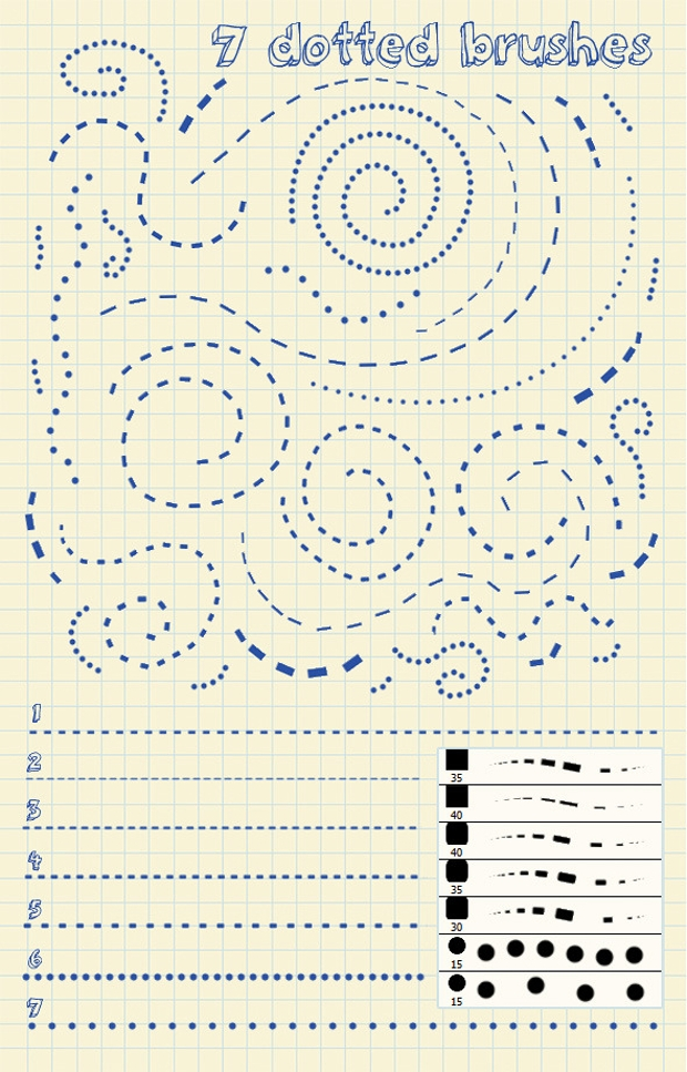 dotted lines brushes