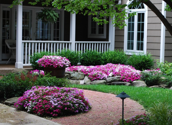 Floral Front Yard Landscaping