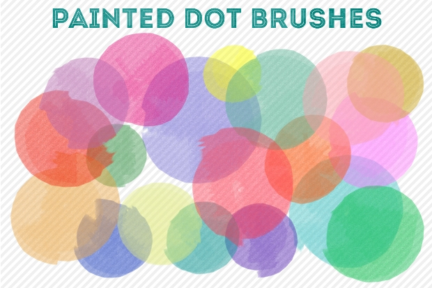 Painted Dot Brushes