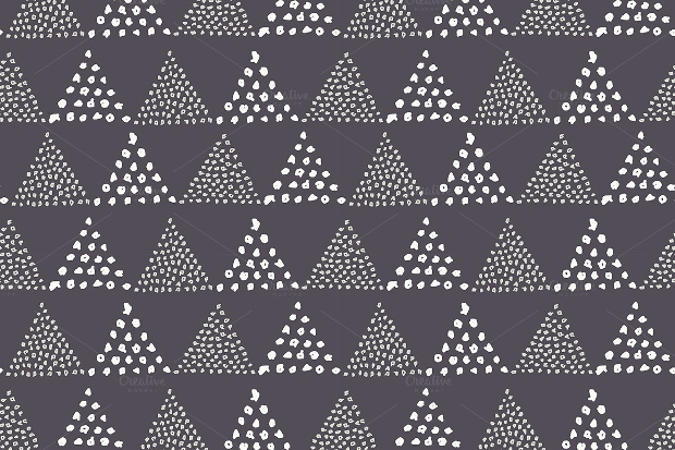 Dotted Triangle Seamless Pattern